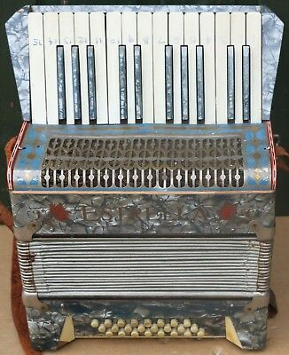 Small Old Estrella Piano Accordion To Tidy Up Or Restore