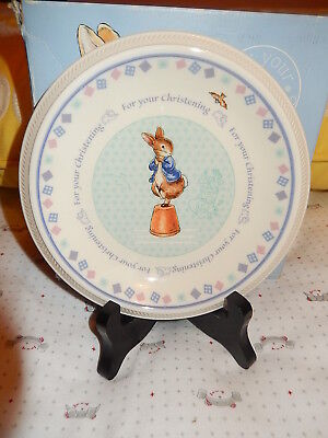 Peter Rabbit Wedgwood Christening plate NEW only $15