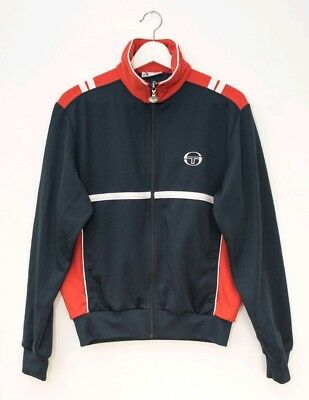 Vintage Sergio Tacchini Tracksuit Zip Top Navy Red White 80s/90s
