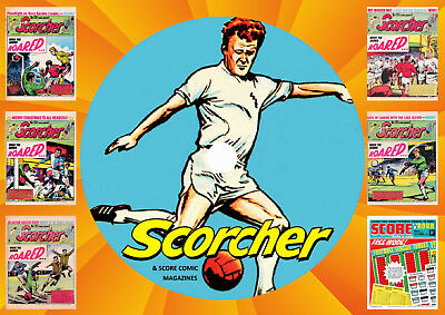 Scorcher Collection 2 + Score N Roar UK Comic Mags On DVD Rom