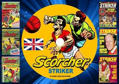 Scorcher Collection 1 + Striker UK Comic Mags On DVD ROm