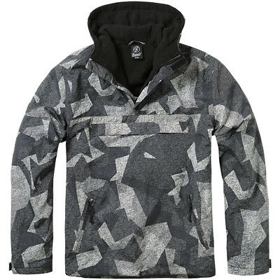 Brandit Windbreaker Hooded Military Combat Mens Jacket Anorak Night Camo Digital