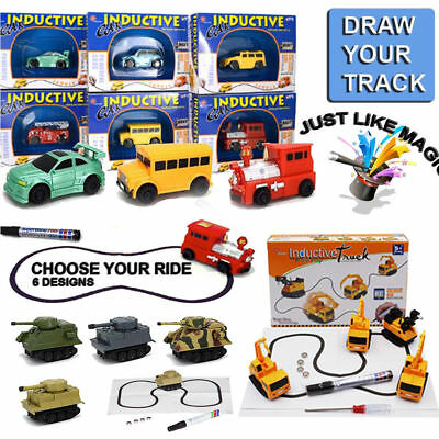 Magic Pen Inductive Car Tank Truck Kids Toy Automatic Follow Any Line You Draw