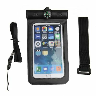 Waterproof Black Armband Pouch Swimming SPA with Compass Dry Case for iPhone 6