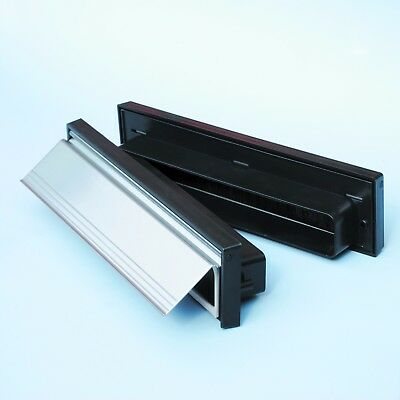 Internal and External Sleeved Letterboxes, Black, White, Gold and Chrome.