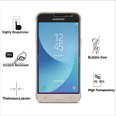 For Samsung Galaxy A3/5/7 2017 Ultra-thin Premium Real Tempered Glass Film HD 9H
