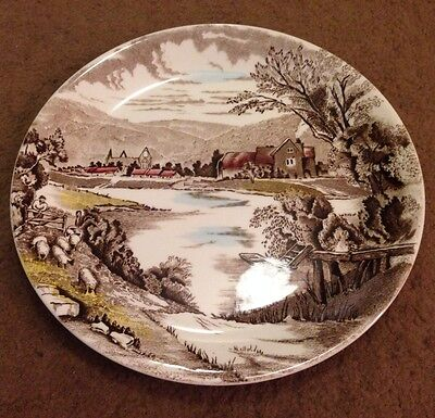 "Antique Hand Engraved Alfred Meakin English China Plate (10"" Diameter)"
