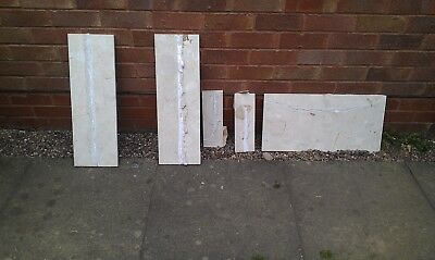 Ivory Back Panels for Fireplace - gloss finish