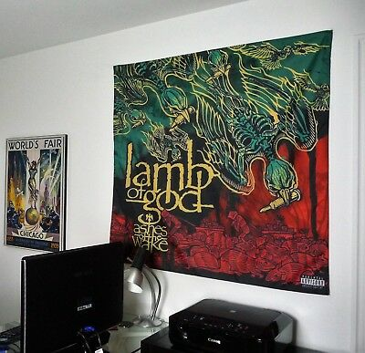LAMB OF GOD Ashes of the Wake HUGE 4X4 BANNER poster tapestry cd album cover