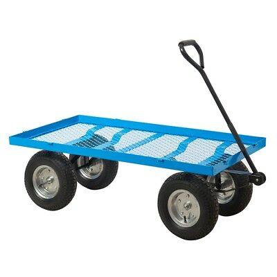 Heavy Duty Mesh Platform Truck Trolley with Puncture Proof Wheels