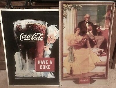 Two Coca-cola posters
