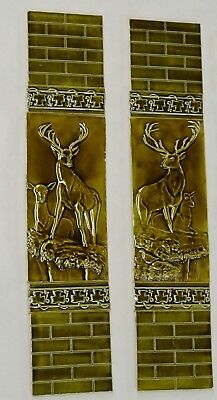 Hand Crafted Victorian Style Fireplace Kitchen 36 Tile Set Deer