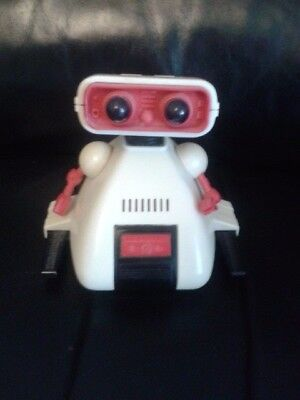 rare vintage tomy white and red dingbot working