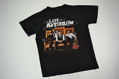 Lady Antebellum Concert Tour Black Graphic T-Shirt Adult Small Country Pop Music