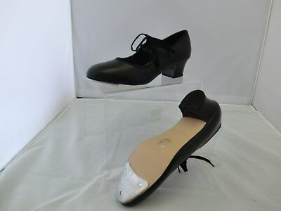 Girls and Ladies Leather Cuban Heel Tap Shoes - Katz
