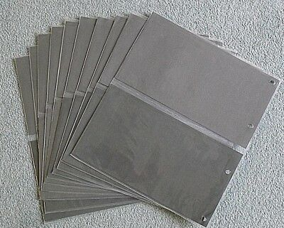 10x Double First Day Cover sleeves, (40 capacity)