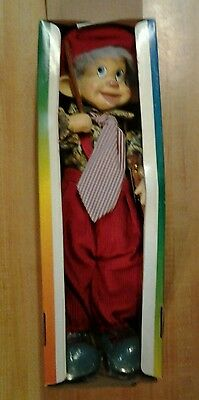 """VINTAGE PORCELAIN CLOWN DOLL WITH VIOLIN by Ashley Belle 15"""""""