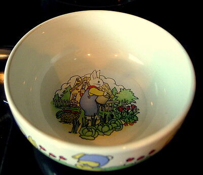 Ellen Blonder Tumbling Bunny Childs Bowl Dish