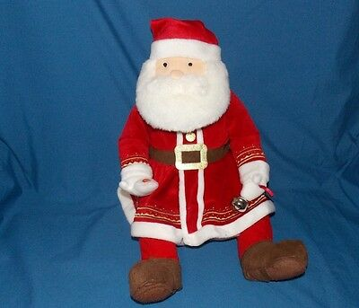 Hallmark The Polar Express Talking Santa Claus Plush Doll Jingle Bell 20""