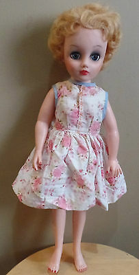 """Vintage DEE and CEE HIGH Heel FEET 17"""" Blond Hair Dressed DOLL by D&C Canada"""