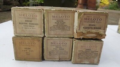 Player piano rolls Meloto long playing