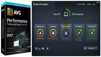 AVG PC TuneUp 2017 - 3 Users 1 Year PC LICENCE KEY INSTANT DELIVERY