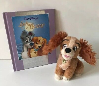 Disney Store Lady And The Tramp Plush Soft Toy -Lady & Book Bundle