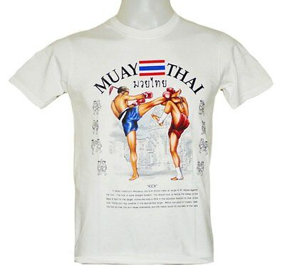 T-shirts MUAY THAI KICK BOXING MMA SHORT SLEEVE MT77 White