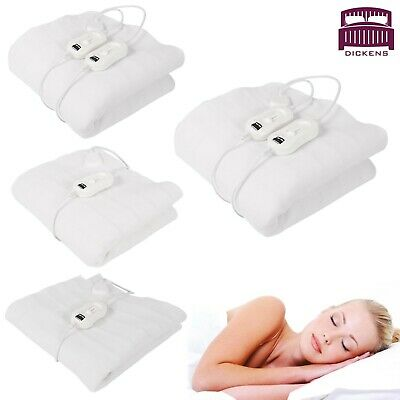 Single / Double / King Size Electric Blanket For Bed Machine Washable Heated