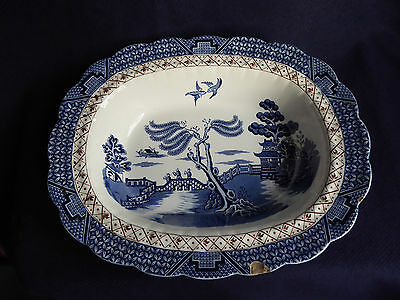 Booths Real Old Willow | Pie Vegetable Serving Dish | A8025 | Blue White