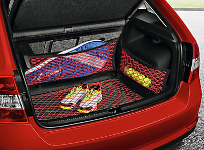 Genuine Skoda Rapid Spaceback Boot Luggage Securing Red Netting System