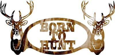 DXF CNC dxf for Plasma Router  Vector Born To Hunt  Man Cave Hunting