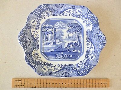 A Spode Italian Square Handled Cake  / Bread and Butter Plate, no damage