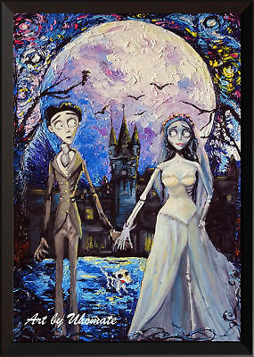 Corpse Bride Victor Emily Starry Night Poster Print Nursery Wall Decor A087