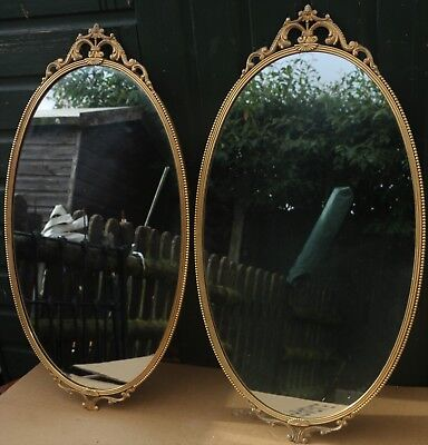 Fab Looking Pair Of Large Heavy Quality Gilt Framed Wall Mirrors