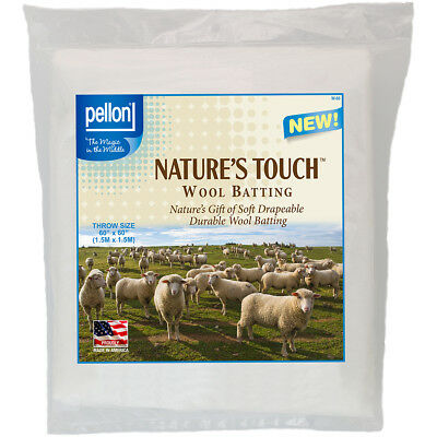 "Pellon Wool Batting Throw Size 60""X60"" FOB: MI W-60"