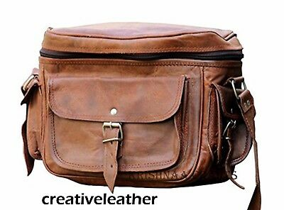 Leather Big Camera DSLR Padded Digital Camera Bag 11x9x5 for With Lens Partition
