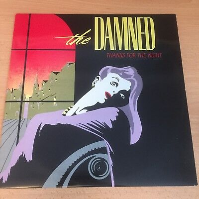 """The Damned 'Thanks for the night/Nasty' 12"""" vinyl 1984"""