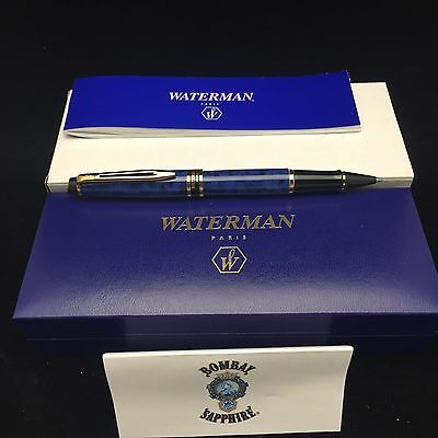 Waterman Sapphire Blue Marbled Rollerball Pen - Bombay Sapphire Promo Item - New