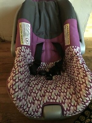 Pink and Grey Infant Car Seat w/ Base