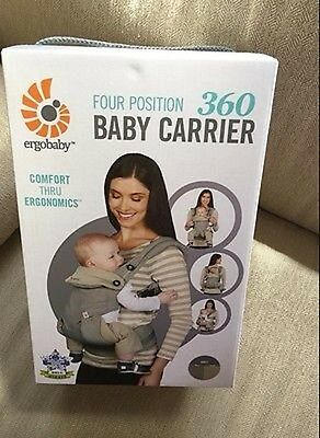 NEW - Ergobaby 4 Positions 360 Baby Carrier - Grey - FREE SHIPPING