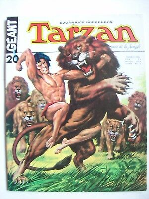 Tarzan géant n° 20 1974 TBE  Sagédition