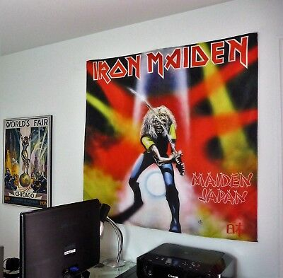 IRON MAIDEN Japan HUGE 4X4 BANNER poster tapestry cd album cover art