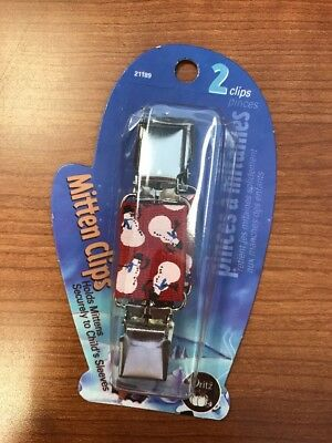Dritz Mitten Clips, Snowman Snowmen  Hold mittens to sleeves or in pairs NEW NIP