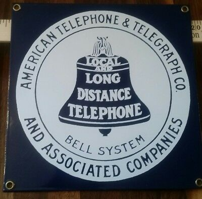 Bell System Telephone Company Metal Sign