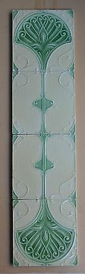 Unbrand England - Antique Art Nouveau Majolica Set 4-Tile C1900