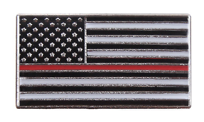 Support Firefighters Firemen Thin Red Line US Flag Uniform Shirt Hat Lapel Pin