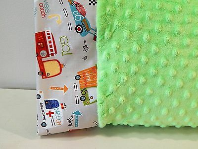 NWT Police Ambulance Trash Truck Recyle Fire Minky Dot Toddler Pillowcase 12x16