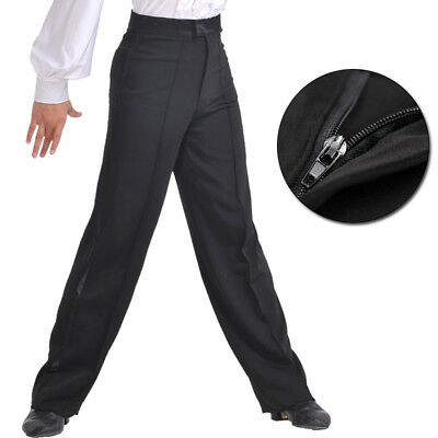Men Jazz Latin Salsa Dance Pants Smooth Competition Ballroom Practice Trousers