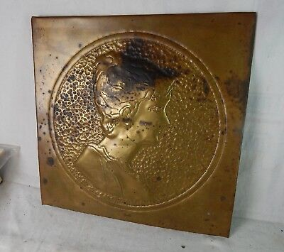 large antique brass FLU COVER ART NOUVEAU